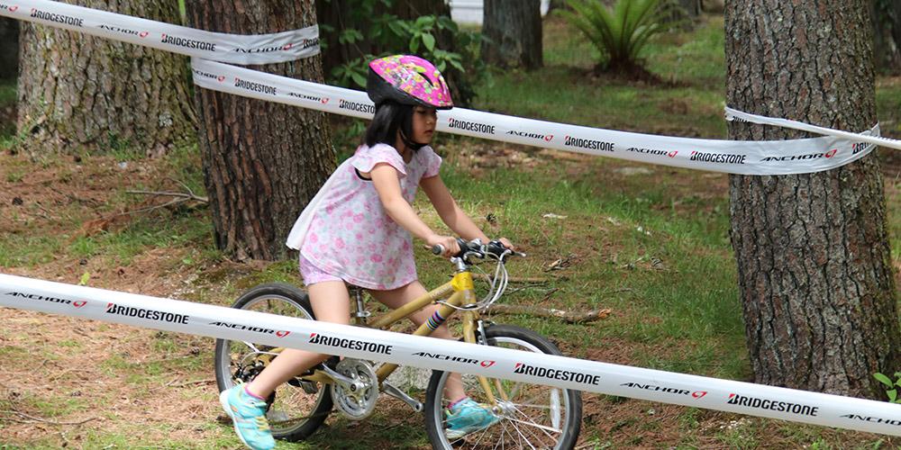 起伏に富んだコースを設定したサイクリング体験
